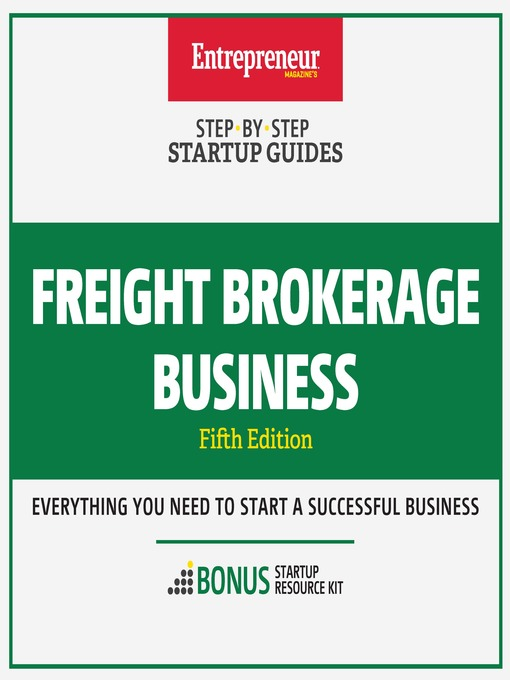 Le Details For Freight Brokerage Business By The Staff Of Entrepreneur Media Inc