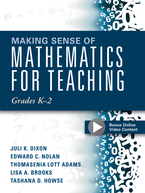 Cover of Making Sense of Mathematics for Teaching Grades K-2