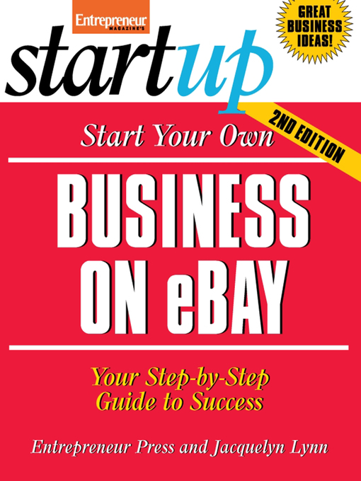 Title details for Start Your Own Business on eBay by Entrepreneur Press - Available