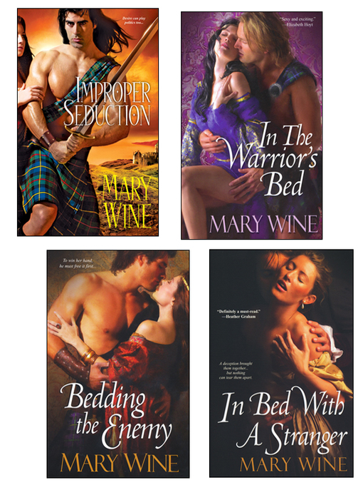 Title details for Improper Seduction Bundle with In the Warrior's Bed, Bedding the Enemy, & In Bed with a Stranger by Mary Wine - Available