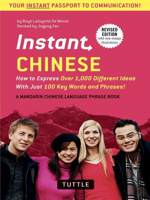 Title details for Instant Chinese by Boye Lafayette De Mente - Wait list