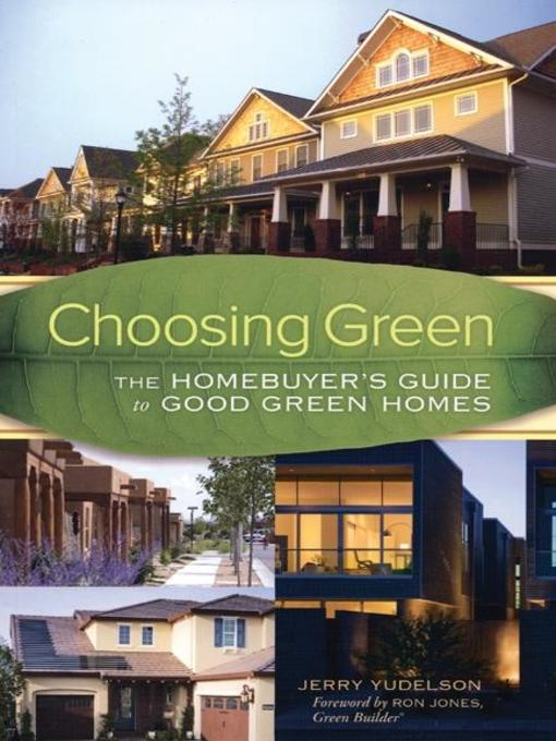 Title details for Choosing Green by Jerry Yudelson - Available