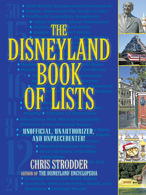 The Disneyland book of lists unofficial unauthorized and