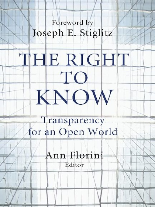 Title details for The Right to Know by Ann Florini - Wait list
