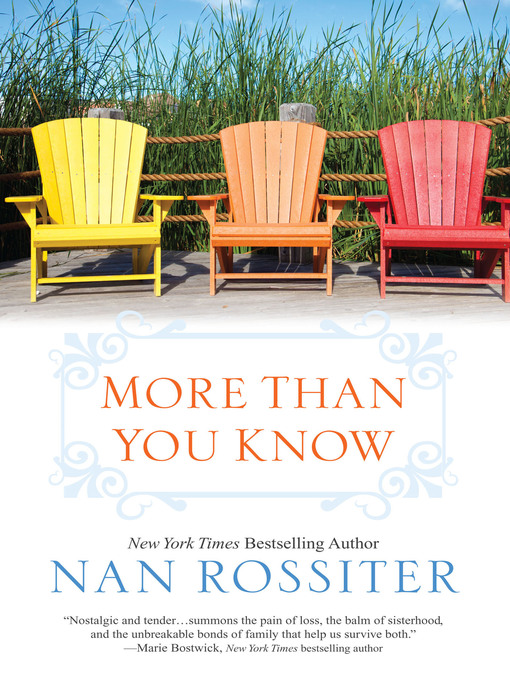 Title details for More Than You Know by Nan Rossiter - Available