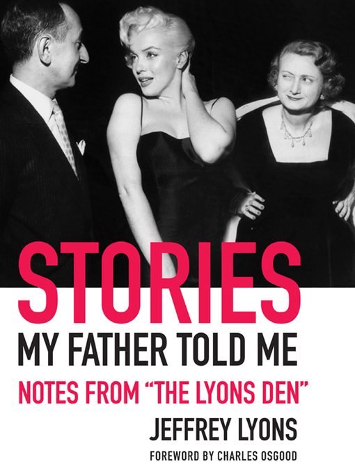 Title details for Stories My Father Told Me by Jeffrey Lyons - Wait list