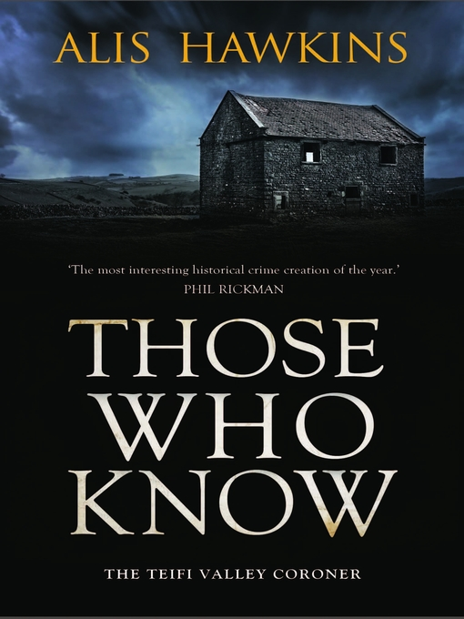 Title details for Those Who Know by Alis Hawkins - Wait list