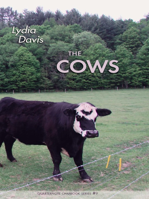 Title details for The Cows by Lydia Davis - Available