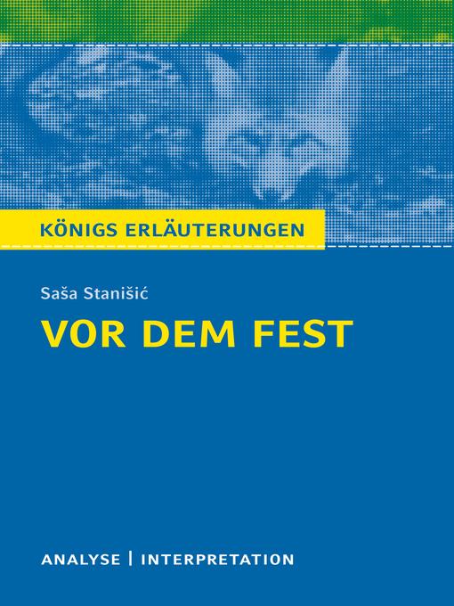 Title details for Vor dem Fest. Königs Erläuterungen. by Thomas Möbius - Available