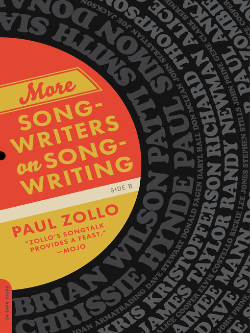 Title details for More Songwriters on Songwriting by Paul Zollo - Available