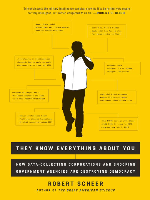 Title details for They Know Everything About You by Robert Scheer - Available
