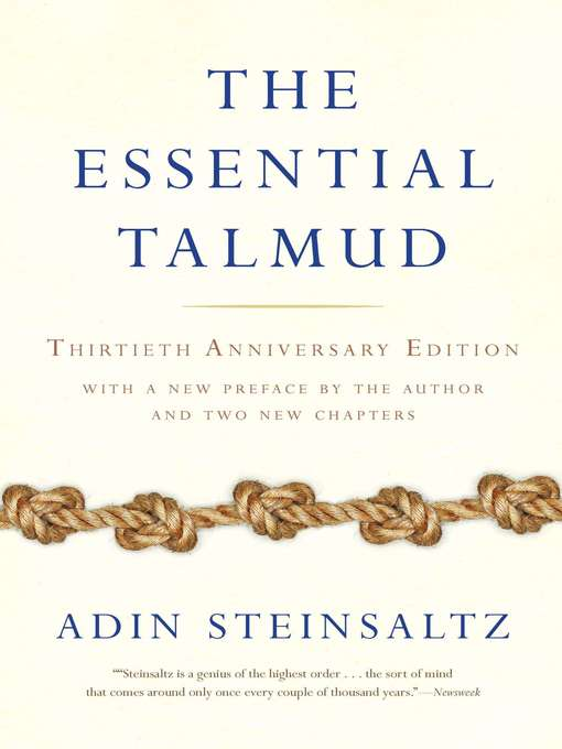 Cover of The Essential Talmud