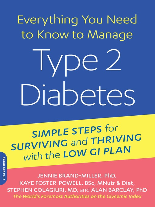 Title details for Everything You Need to Know to Manage Type 2 Diabetes by Jennie Brand-Miller - Available