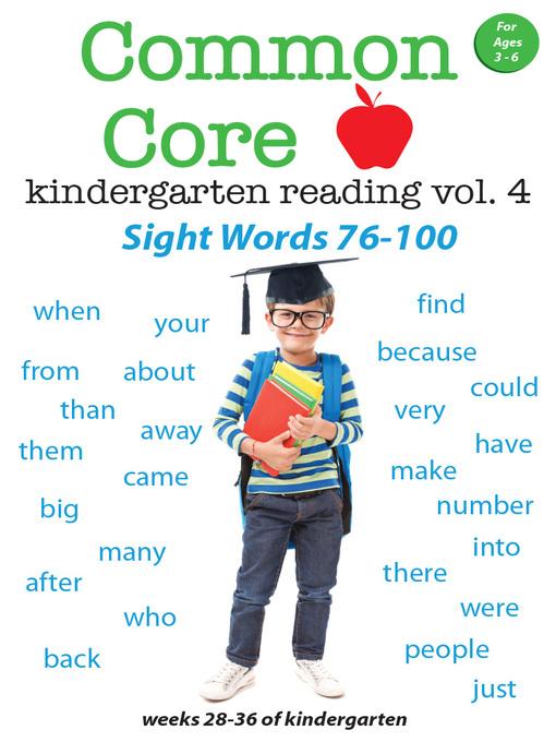 Common Core Kindergarten Reading Sight Words Volume 4 Kentucky