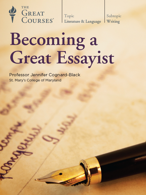 Title details for Becoming a Great Essayist by Jennifer Cognard-Black - Available
