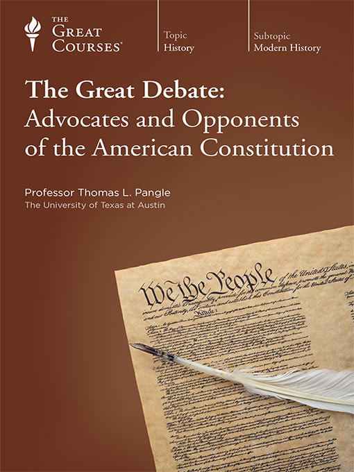 Title details for The Great Debate by Thomas Pangle - Available