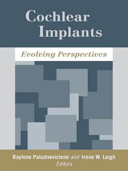 Title details for Cochlear Implants by Raylene Paludneviciene - Available