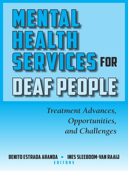 Title details for Mental Health Services for Deaf People by Benito Estrada Aranda - Available