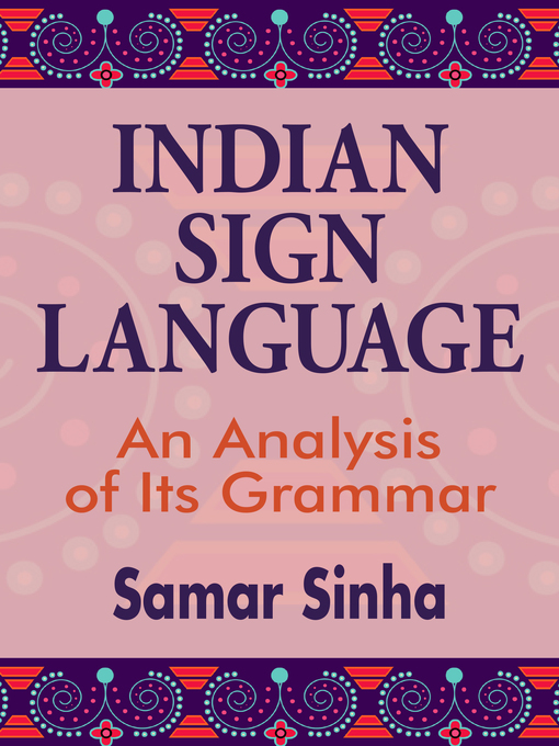 Title details for Indian Sign Language by Samar Sinha - Available