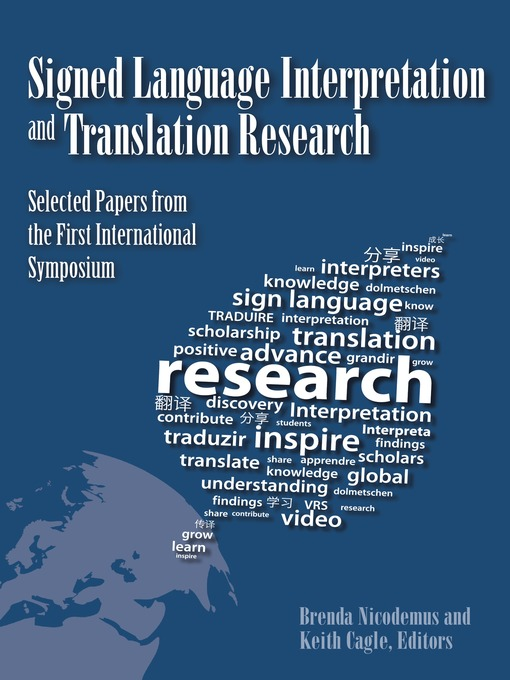 Title details for Signed Language Interpretation and Translation Research by Brenda Nicodemus - Available