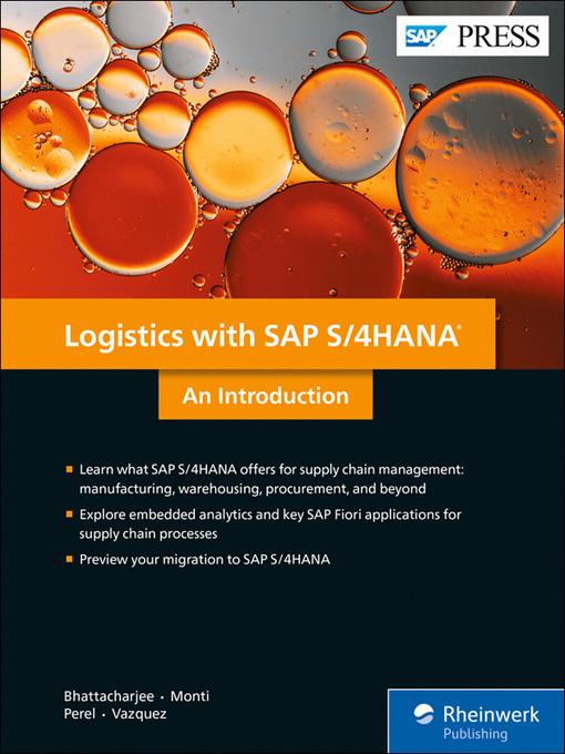 Logistics with SAP S/4HANA - OverDrive IRC Digital Library