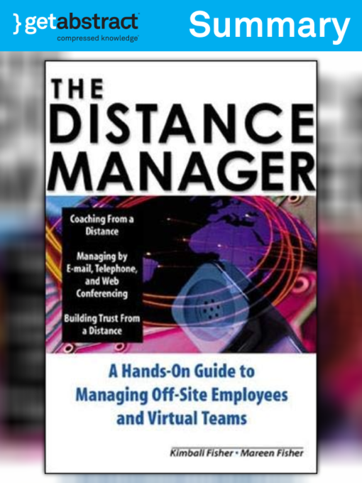 The Distance Manager Summary National Library Board Singapore