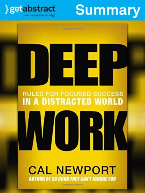 Title details for Deep Work (Summary) by Cal Newport - Available
