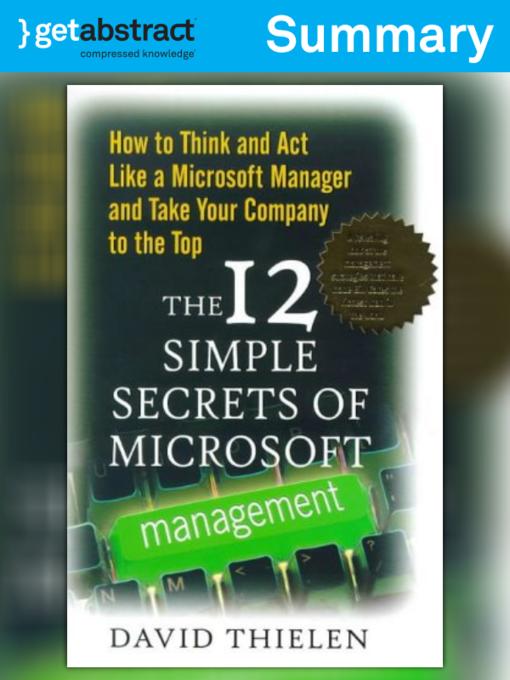 microsoft management secrets