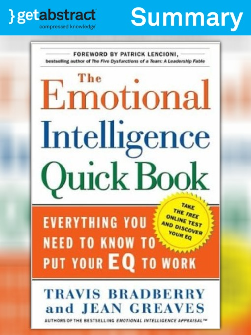 The Emotional Intelligence Quick Book (Summary) - National