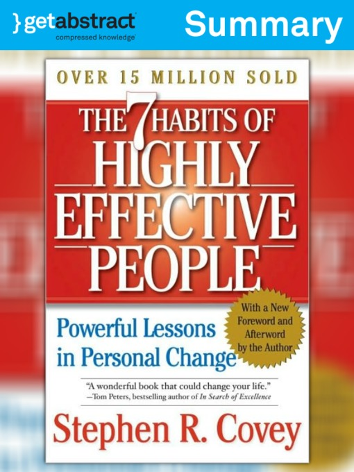 The 7 Habits Of Highly Effective People Summary National Library