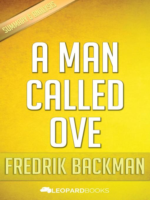 Title details for A Man Called Ove by Fredrik Backman by Leopard Books - Available
