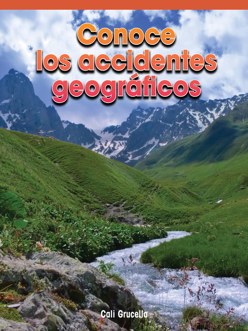 Cover of Conoce los accidentes geográficos (A Look At Landforms)