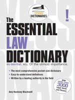 The Essential Law Dictionary