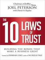 Click here to view eBook details for The 10 Laws of Trust by Joel Peterson
