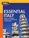 Cover image for Fodor's Essential Italy
