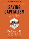 Cover image for Saving Capitalism