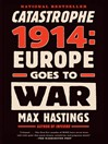 Cover image for Catastrophe 1914