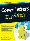 Cover image for Cover Letters For Dummies