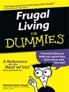 Cover image for Frugal Living For Dummies