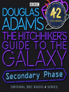 Cover image for Hitchhiker's Guide to the Galaxy, the  Secondary Phase  Special
