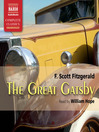 The great Gatsby / F. Scott Fitzgerald