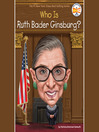 Cover image for Who Was Ruth Bader Ginsburg?