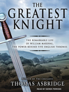 Cover image for The Greatest Knight