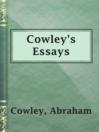 Cowley's Essays