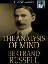 The Analysis of Mind [electronic resource]