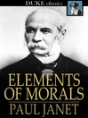 Elements of Morals