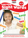 Learning Sight Words, Volume 4