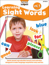 Learning Sight Words, Volume 1