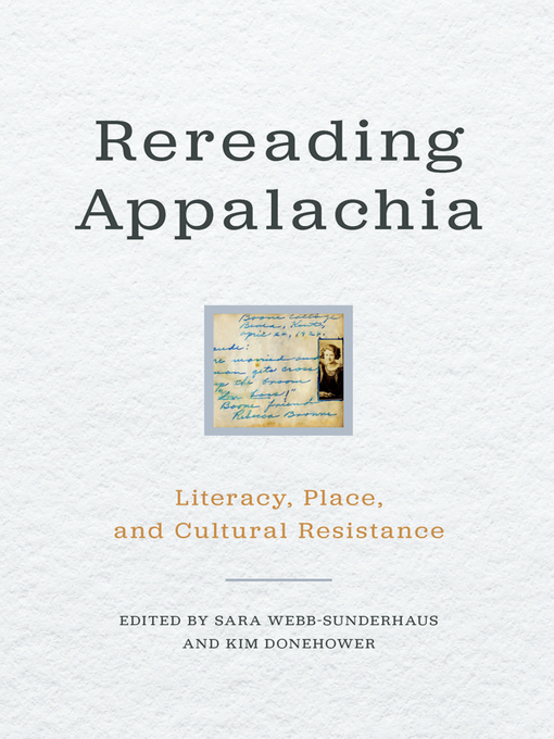Cover image for Rereading Appalachia