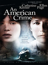 Cover image for An American Crime